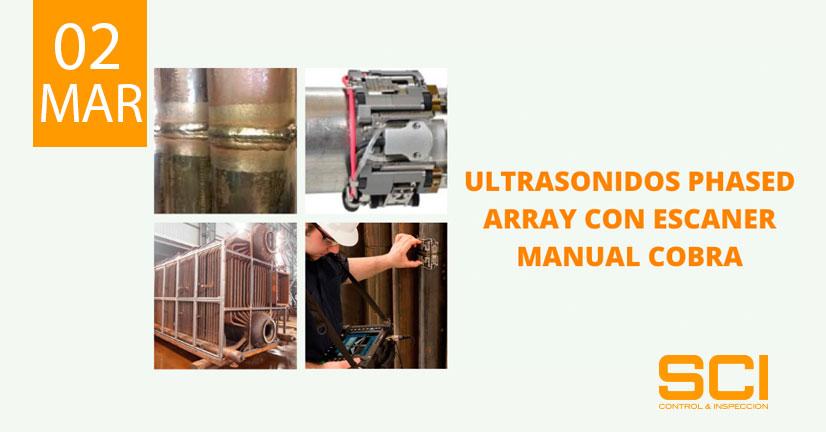ultrasonidos phased array con escaner manual cobra